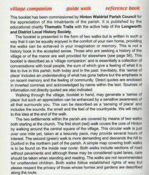 Hinton Waldrist – (A Sense of Place)
