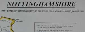 Nottinghamshire Parish Register Map (IHGS)