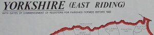 Yorkshire (East Riding, Ainstey & City of York) Parish Register Map (IHGS)