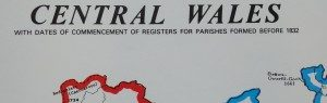 Wales (Central) Parish Register Map (IHGS)