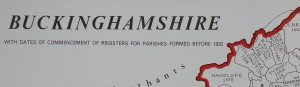 Buckinghamshire Parish Register Map (IHGS)