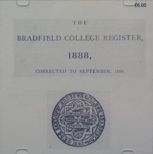 Bradfield College Register 1888 (CD)