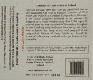 Cassell's Gazetteer of Great Britain and Ireland 1899-1900 (CD)