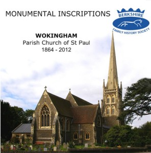 Wokingham, St Paul, Monumental Inscriptions CD