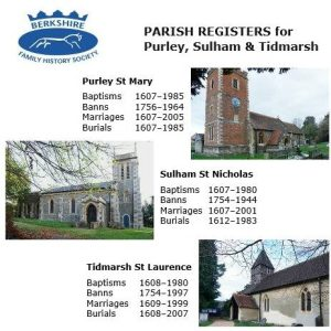 Purley, Sulham & Tidmarsh, Parish Registers (CD)