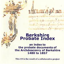 Berkshire Probate Index, 1480-1857 (CD) BFHS