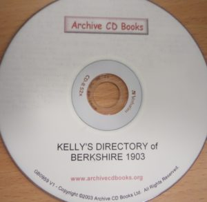 Kelly's Directory of Berkshire 1903 (CD)