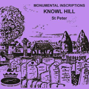 Knowl Hill, St Peter, Monumental Inscriptions 1842-2002 (CD)