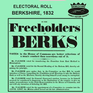 Electoral Roll, Berkshire, 1832 (CD)