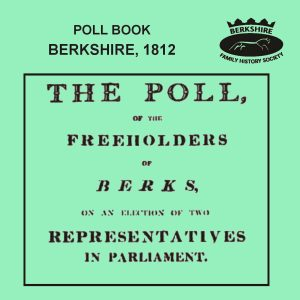 Poll Book, Berkshire, 1812 (CD)