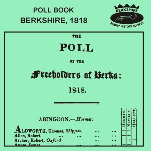 Poll Book, Berkshire, 1818 (CD)