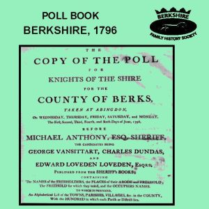 Poll Book, Berkshire, 1796 (CD)