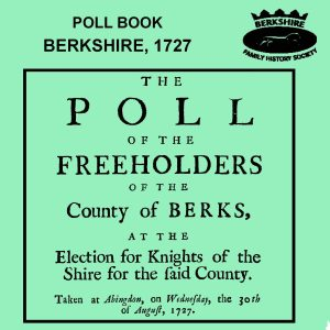 Poll Book, Berkshire, 1727 (CD) BFHS