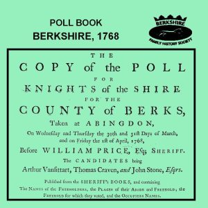 Poll Book, Berkshire, 1768 (CD) BFHS
