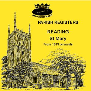 Reading, St Mary, Parish Registers 1813 onwards (CD)