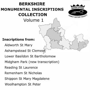 Berkshire Monumental Inscriptions, Vol 1 (CD)