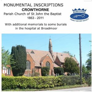 Crowthorne, St John, Monumental Inscriptions 1863-2011 (CD)