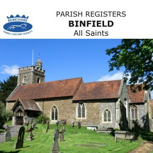Binfield, All Saints, Parish Registers, (CD)
