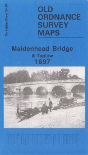 Maidenhead Bridge & Taplow, Old Ordnance Survey Map, 1897