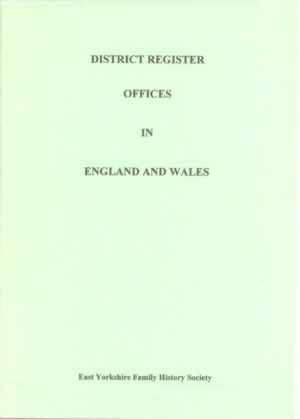 District Register Offices in England & Wales
