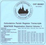 Wantage Registration District, Parish Registers, Vol 1 (CD)