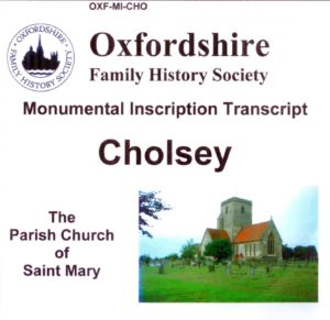 Cholsey, St Marys, Monumental Inscriptions, (CD) OFHS