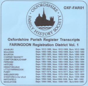 Faringdon Registration District, Parish Registers, OXF-FAR 01 (CD) OFHS