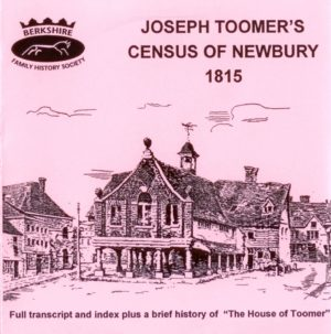 Newbury,1815 Census of Newbury by Joseph Toomer (CD)
