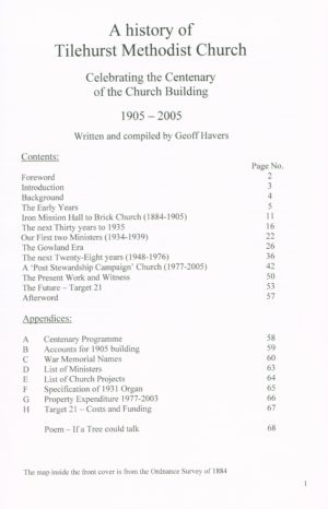 Tilehurst Methodist Church – A History of