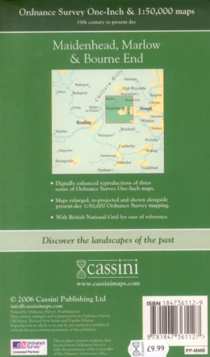 Maidenhead, Marlow & Bourne End (1822 – present day), OS Map, Past & Present, Cassini