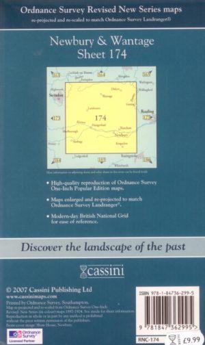 Newbury & Wantage 1897- 1900, OS Map,Revised New Series; Sheet 174, Cassini