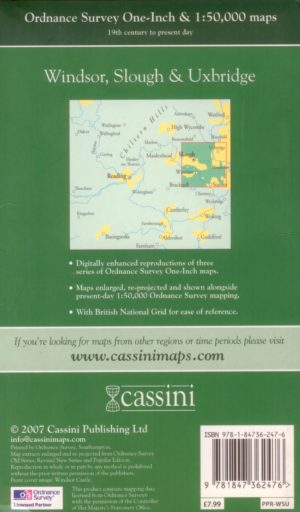 Windsor, Slough, etc, (1816 to present day), OS Map, Past & Present, Cassini