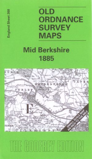 Mid-Berkshire, One Inch Old Ordnance Survey Map, 1885