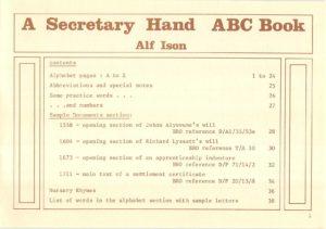 A Secretary Hand, an ABC Book