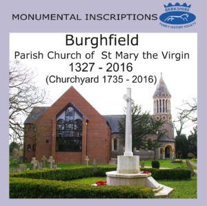 Burghfield, St Mary the Virgin, Monumental Inscriptions BFHS (CD)