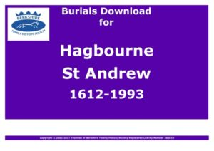 Hagbourne St Andrew Burials 1612-1993 (Download) D1101