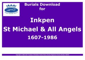 Inkpen St Michael & All Angels Burials 1607-1986 (Download) D1112
