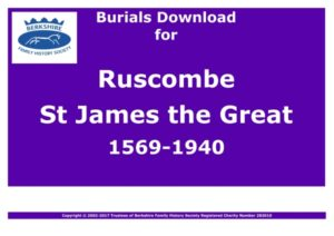 Ruscombe St James the Great Burials 1569-1940 (Download) D1183