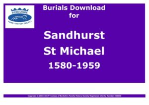 Sandhurst St Michael Burials 1580-1959 (Download) D1184
