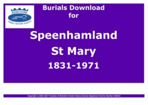 Speenhamland St Mary Burials 1831-1971 (Download) D1200