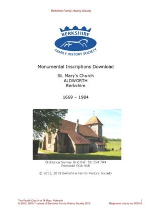 Aldworth St Mary MI 1669-1984 (Download) D1401