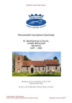 Basildon Lower St Bartholomew MI 1497-1983 (Download) D1415