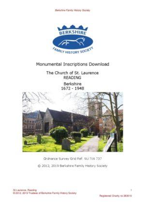Reading St Laurence MI 1672-1948 (Download) D1423