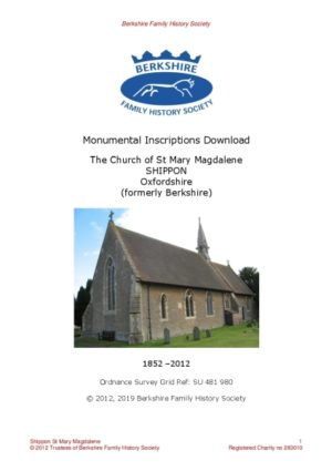 Shippon St Mary MI 1852-2012 (Download) D1428