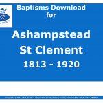 Ashampstead St Clement Baptisms 1813-1920 (Download) D1584