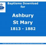 Ashbury St Mary Baptisms 1813-1882 (Download) D1585